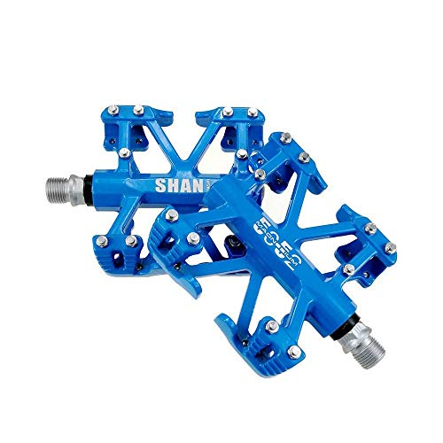 Bike Pedals Magnesium Alloy 9/16 inch Spindle Bearing High-Strength Non-Slip Mountain Bike Flat Platform Pedals