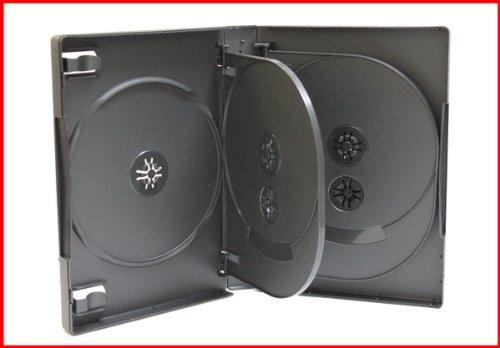 27mm 8 Discs CD DVD Storage Case Black 5 Pk covid 19 (27mm 8 Disc Black Dvd coronavirus)