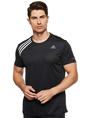 adidas OWN The Run Tee T-Shirt Homme, Black/White, FR : L (Taille Fabricant : L)