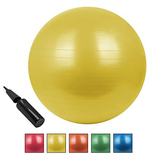 BB Sport GmbH & Co. KG Palla Ginnica Universale da Seduta BOBBLY in Diverse Dimensioni e Colori, Diametro:85 cm, Colore:Giallo in Movimento