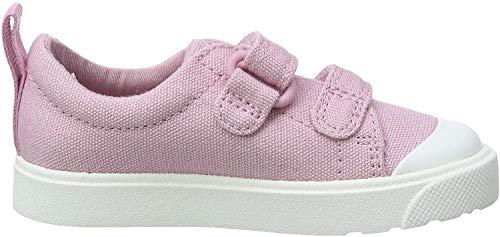 Clarks Mädchen City Bright T Sneaker, Pink (Pink Canvas Pink Canvas), 26 EU