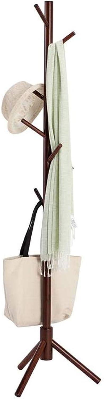 Coat Rack, Hat Coat Stand, 8 Hooks Heavy Duty redating Coat Stand Hanger Hall Umbrella Holder Office Entryway 47 x 47 x 175cm (color   Brown)