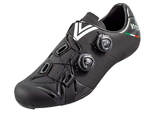 Vittoria Shoes Velar, Scarpe da Ciclista Unisex Adulto, Nero, 43 EU