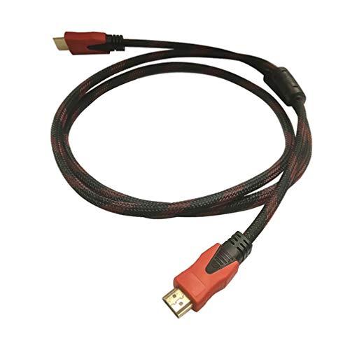 Cabo HDMI OSALADI de alta velocidade com cabo HDMI trançado de aço revestido de cobre compatível com áudio e retorno Blu-ray X-Box (Preto)