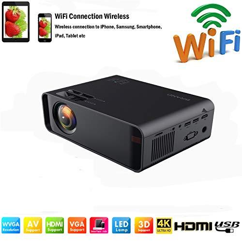 SOTEFEWiFi Vidéoprojecteur-Mini Projecteur Portable 7000 Lumens Full HD 1080P Rétroprojecteur Sans...