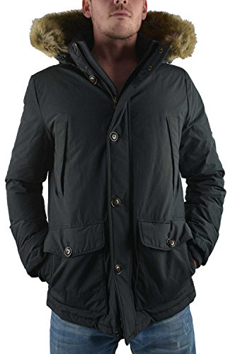 Tommy Hilfiger Herren Parka Jacke NEW HOUSTON, Gr. XX-Large, Schwarz (FLAG BLACK 083)