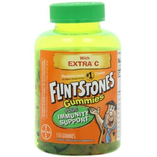 Flintstones Childrens Multivitamin Plus Immunity Support Gummies - 150 per Pack - 24 Packs per case.
