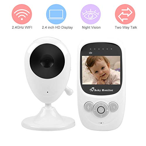 Video Baby Monitor,Acogedor 2.4GHz Wireless Digital Baby Monitor Camera with 2.4 inch TFT LCD Screen-Automatic Night Vision-Two Way Audio-Temperature Monitoring-Lullabies(White) Subjects