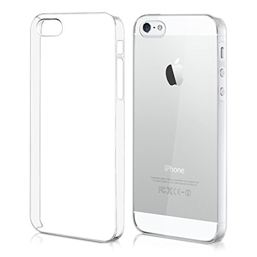 kwmobile Funda Compatible con Apple iPhone SE (1.Gen 2016) / 5 / 5S - Carcasa para móvil - Protector Trasero en Transparente