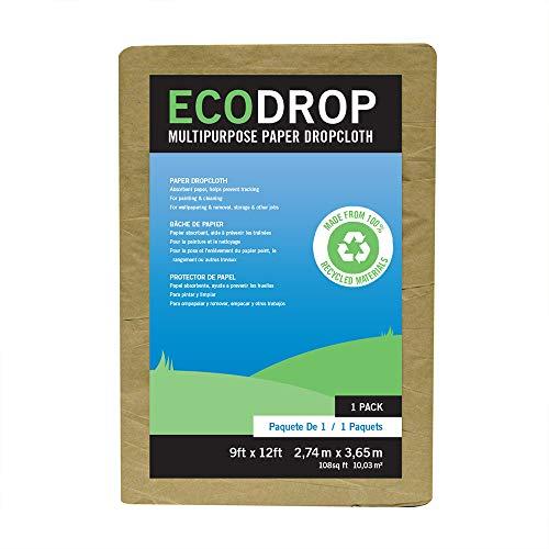 SuperTuff EcoDrop Paper Dropcloth, 9-feet x 12-feet