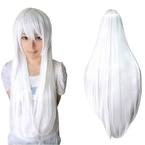 Frauen lange glatte haare perücke cosplay farbe anime schönheit voller kopf