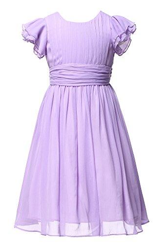 Happy Rose Flower Girl's Dress Prom Party Dresses Bridesmaid Dress Lavender 12