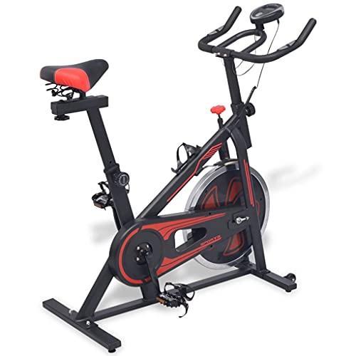 VIENDADPOW Bicicleta de Spinning con sensores de Pulso Negra y roja