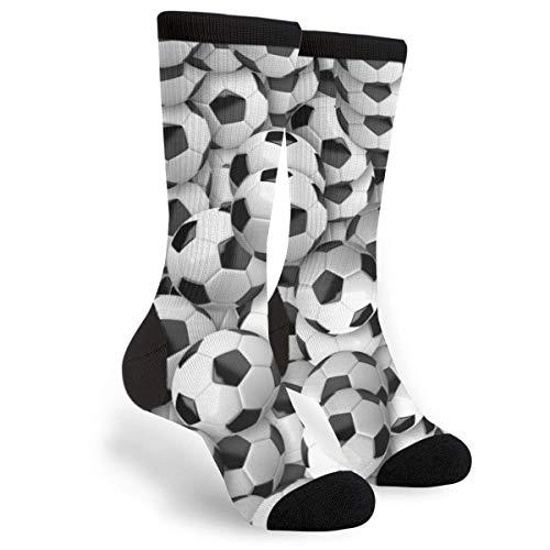Calcetines de fútbol con diseño de balón de fútbol, estilo informal, con estampado en 3D