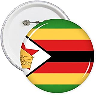 DIYthinker Drapeau National du Zimbabwe Afrique Country Symbole Mark Motif Rond Badge à épingle Bouton 5pcs S