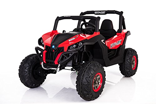 "CARS12V Coche para Niños - Coche Eléctrico Buggy 04"" - Batería Recargable De 12V10AH, 4 Motores - 2.4Ghz, 4WD + MP3 + Asiento De Cuero + EVA"