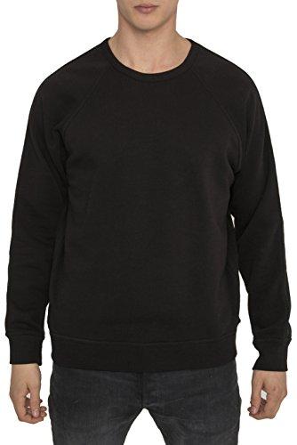 RADDAR7 Sweathirts Designer Mode Homme Uni Noir – Urban Casual Style - Hauts 100% Coton Jersey – Sweat Haute Qualité pour Hommes – Col Rond – Manches