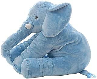 PUNIDAMAN 1Pc 40C/60Cm Large Plush Elephant Doll Toy Kids Back Cushion Cute Stuffed Elephant Accompany Doll Xmas Gift Girl Boy Must Haves Boy Gifts The Favourite Comic Superhero Classroom