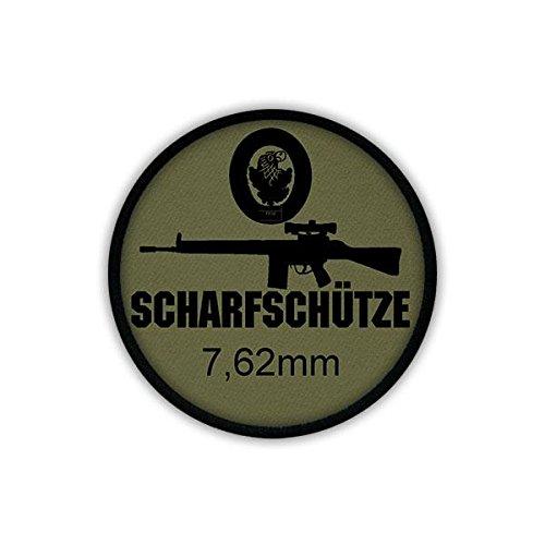 Copytec Patch/Aufnäher - 7,62mm Scharfschütze G3 Zielfernrohr Gewehr Bundeswehr Waffe Sturmgewehr Standardgewehr AGA Fallschirmjäger Uniform #19558