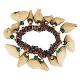 EXCEART Noci Shell Braccialetto Dora Dado Campanella African Tribal Stile Accessori per St...