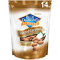 Blue Diamond Gluten Free Toasted Coconut Almonds, 14 Ounce