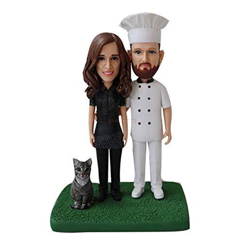 kundenspezifischer koch bobblehead vom foto zu den figuren mit hund kundenspezifische hundefiguren miniaturen china bobblehead herstellung