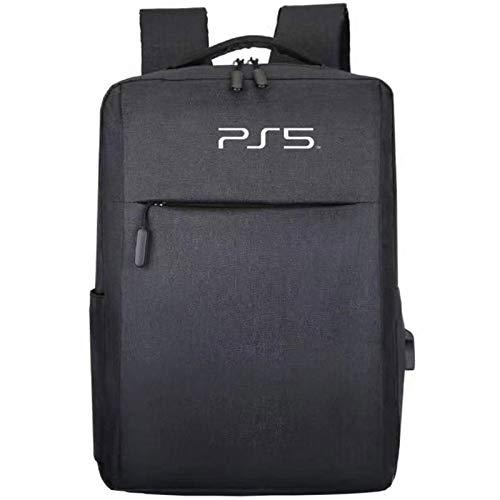 AXDNH Caja de Transporte de Tela para la Bolsa de Almacenamiento de Host PS5 PortableTravel Fundas a Prueba de Golpes a Prueba de Agua para PS5 PlayStation5 Gamepad,Negro