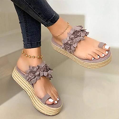 XXXVV para Mujer del juanete Sandalias de Verano cómodo para el Dedo Gordo del pie Zapatillas corrección del Hueso de Peso Ligero Sandalias Planas de Las Chancletas,03,35