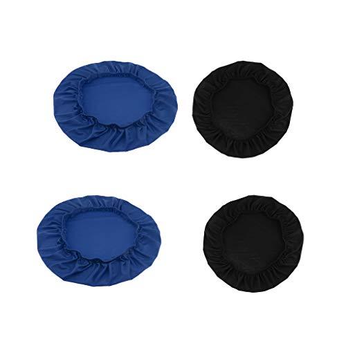Gazechimp Estirar La Cubierta de La Silla de Comedor Funda para Boda Taburete de Cocina Asiento Azul Y Negro