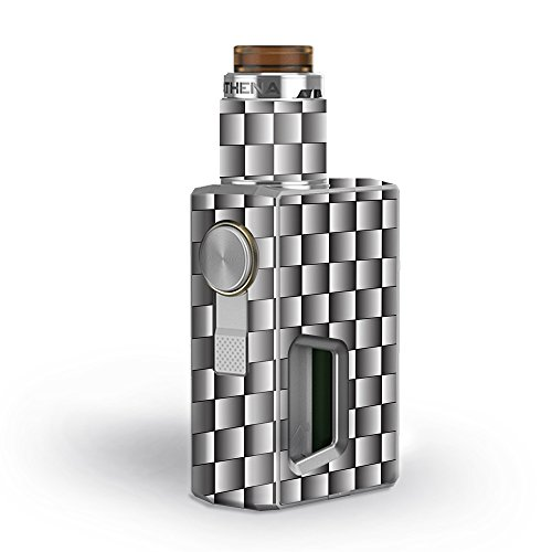 Skin Decal Vinyl Wrap for GeekVape Athena Squonk Kit Vape Kit skins stickers cover / White Grey Carbon Fiber Look