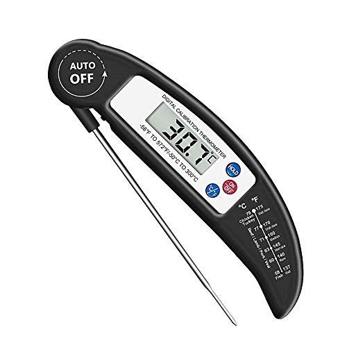 othulp Fleischthermometer Für Backofen Thermometer Küche Ovenproof Fleisch Thermometer Instant Lesen Fleisch Thermometer Fleisch Kochen Thermometer Black