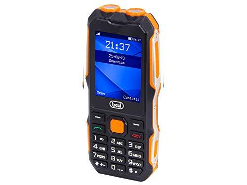 Trevi Forte 70 - Teléfono móvil con móvil antigolpes, Pantalla LCD a Color, Bluetooth, Doble cámara, Black
