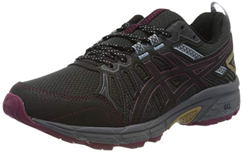 ASICS Damen Gel-Venture 7 Running Shoe, Graphite Grey/Dried Berry, 41.5 EU