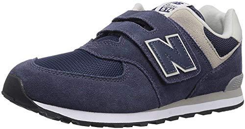 New Balance 574v2 Core Velcro, Zapatillas Unisex Niños, Azul Navy Grey GV, 24 EU