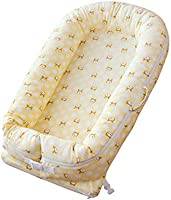 ZSLD Baby Lounger, Newborn Portable Nest, 100% Organic Cotton Breathable and Hypoallergenic Newborn Lounger - Perfect for Co-Sleeping
