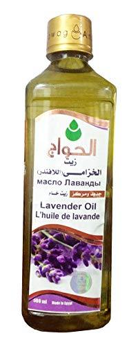 100% Pure & Natural Lavender Oil Cold Pressed Al Hawaj Elhawag El Hawag Original For Facial Cleaning Body Moisturizing Nourishing Healthy Food Kitchen (1 Pack = 17.64 oz / 500 ml) زيت الخزامى اللافندر