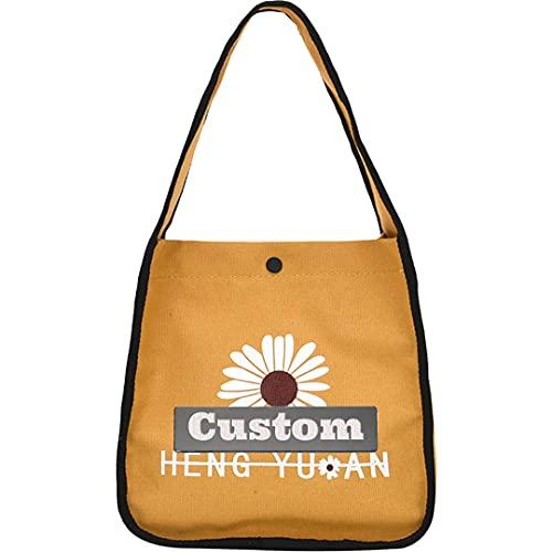 JINTD Nome personalizzato Nome personalizzato Tote per le donne in nylon satchel borse a tracolla grande borsa (Color : Yellow, Size : One size)