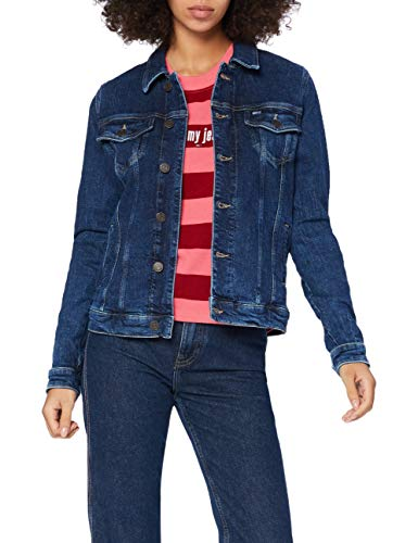 Tommy Jeans Damen Regular Trucker Jckt Cddbcf Jacke, Blau (Cody Dark Blau Comfort), M