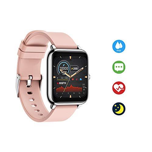 Ayuly Reloj Inteligente, Smartwatch Pulsera Actividad Inteligent Deportivo Impermeable IP67 con Pulsómetro Blood Pressure, Monitor de Sueño, Pantalla Táctil Completa Reloj Fitness para Android iOS