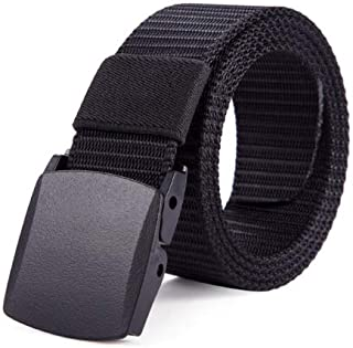 Soft Nylon Non Metallic Canvas Plastic Belts For Men & Women With Airport Security Friendly Belt Buckle by MSS