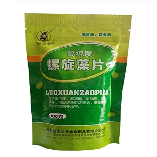 Demoyu 2020 New Hot Spirulina Food Shrimp For Aquarium Tablets Aquarium Fish Food Pills Algae Fish Tank Food 100g (Color : Gold, Size : S)