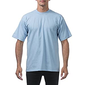 Pro Club メンズ 厚手コットン半袖クルーネックTシャツ US サイズ: Large/Tall カラー: ブルー