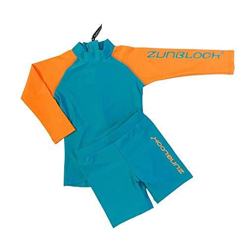 Zunblock Langärmliges 2er-Set mit UV-Schutz UPF 50+ 0 bis 10 Jahre (110/116)
