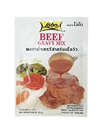 Lobo Beef Gravy Mix - 088 Ounces (Pack of 6)