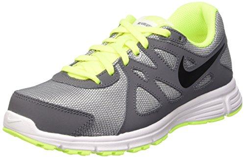 Nike Revolution 2 GS Scarpe Sportive, Ragazzo, Wolf Grey/Black-Dark Grey-Blk, 36.5