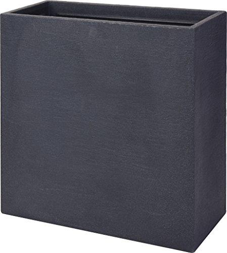 DKB Qualitäts XXL Blumenkasten/Pflanzkübel in Steinoptik 60 x 60 x 26 cm