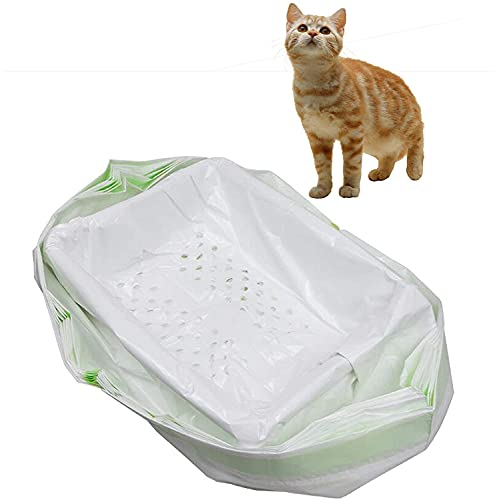 Sifting - Bolsas de basura para gatos con agujeros, tamaño grande, resistente a los arañazos, 94 cm, 46 cm, 7 unidades por paquete