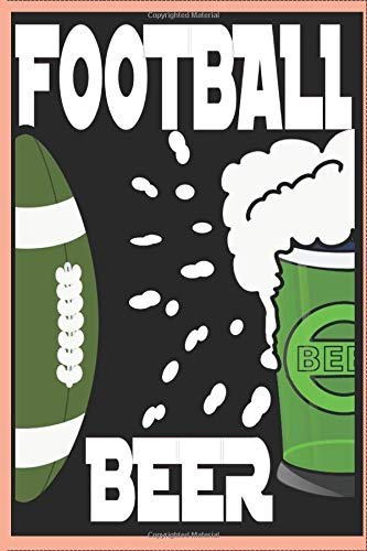 American Football Beer   NOTEBOOK: Notebook DOT GRID 6x9inch 120 Pages cream