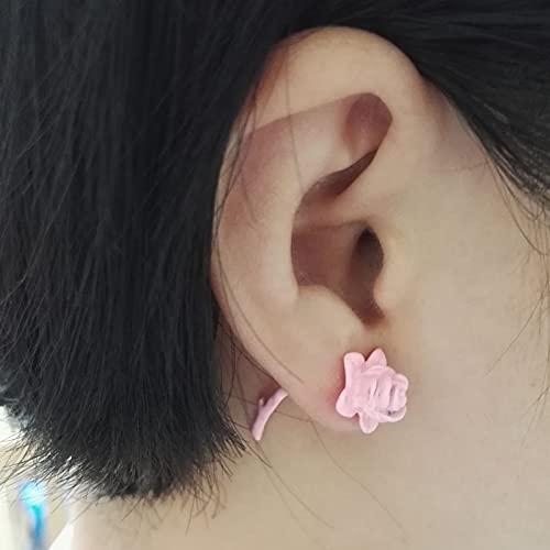 WANGSHI Chicas Perforadas Pendientes Harajuku Estéreo Rosa Piercing Pendientes De Pendiente Adecuado para La Vida Diaria a3 Rosa