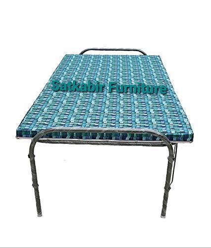 "SATKABIR FURNITURES Single Size Plywood Folding Bed with Metal Frame Folding Bed Size (36"" X 72"")"